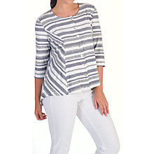 Buy Chesca Stripe Jersey Cardigan, White/Grey Online at johnlewis.com