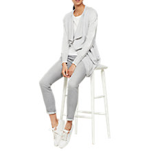 Buy Mint Velvet Star Sleeve Cardigan, Light Grey Online at johnlewis.com