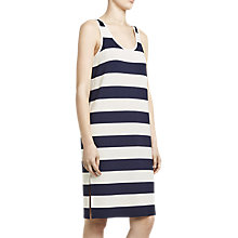 Buy Winser London Parisian Stripe Jersey Dress, Ivory/Midnight Online at johnlewis.com