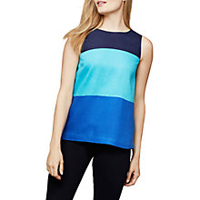 Buy East Colourblock Sleeveless Linen T-Shirt, Softink Online at johnlewis.com