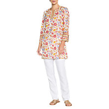 Buy East Anokhi Lalita Tunic, White Online at johnlewis.com