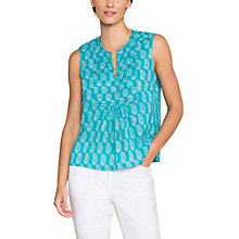 Buy East Anokhi Bamzai Sleeveless Top, Turquoise Online at johnlewis.com