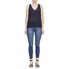 Buy French Connection Sania Plains Sleeveless V-Neck Top Online at johnlewis.com