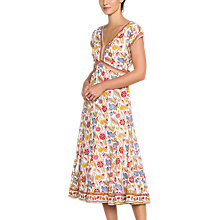 Buy East Anokhi Lalita Dress, White Online at johnlewis.com