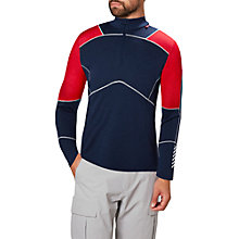 Buy Helly Hansen Lifa Merino Mix Half-Zip Base Layer Top, Evening Blue/Red Online at johnlewis.com