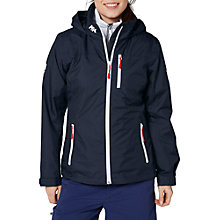 Buy Helly Hansen Crew Hooded Midlayer Waterproof Women's Jacket, Navy Online at johnlewis.com
