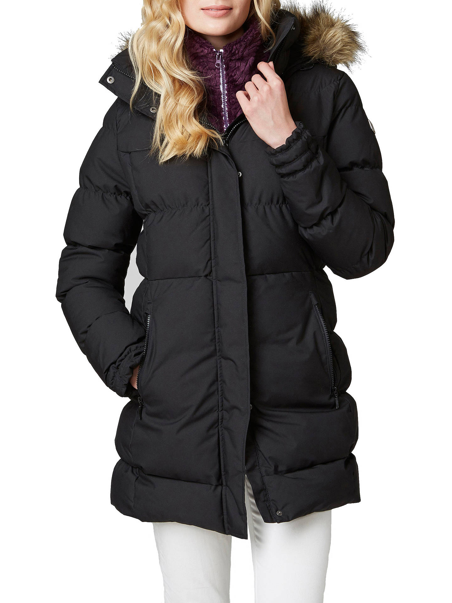 4de0167c83 Buy Helly Hansen Blume Puffy Women's Waterproof Parka Jacket, Black, S  Online at johnlewis ...