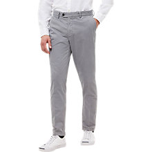 Buy Jaeger Garment Dyed Cotton Regular Fit Chinos, Grey Online at johnlewis.com