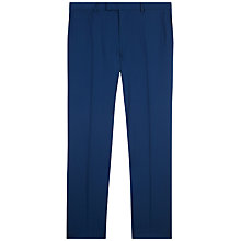 Buy Jaeger Wool Stretch Slim Fit Suit Trousers, Petrol Online at johnlewis.com