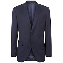 Buy Jaeger Wool Pinstripe Regular Fit Suit Jacket, Navy Online at johnlewis.com