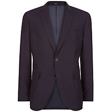 Buy Jaeger Silk Linen Regular Fit Suit Jacket, Navy Online at johnlewis.com