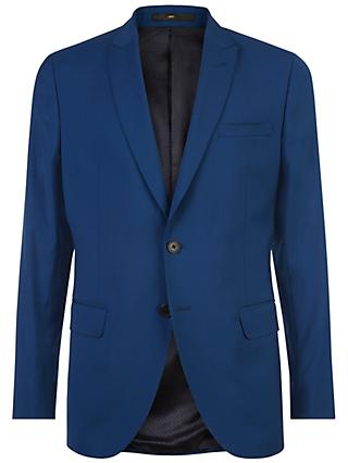 Jaeger Wool Stretch Slim Fit Suit Jacket, Petrol