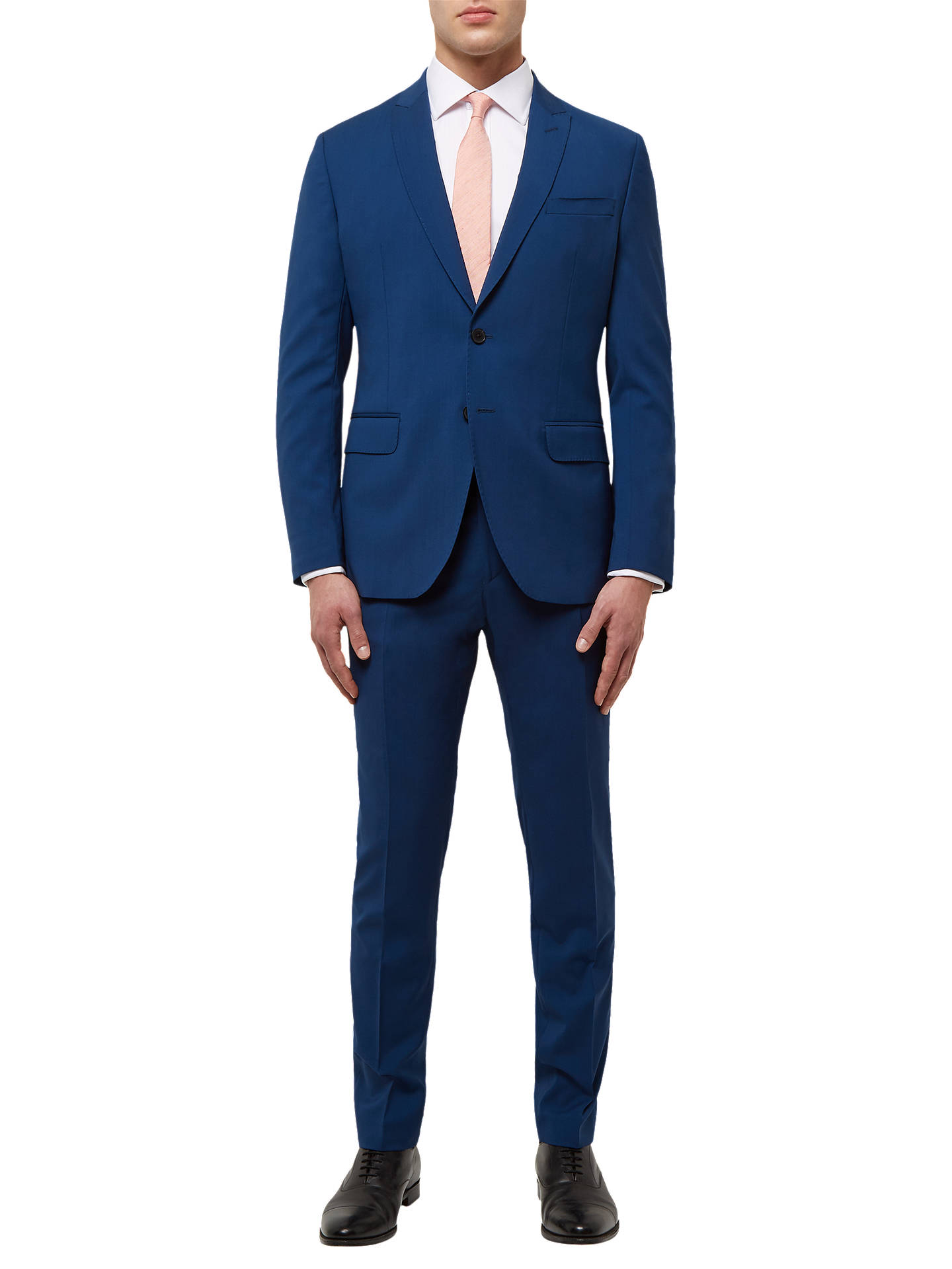 Buy Jaeger Wool Stretch Slim Fit Suit Jacket, Petrol, 40R Online at johnlewis.com