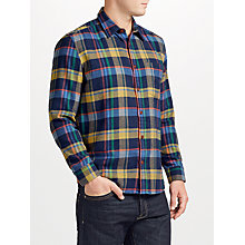 Buy JOHN LEWIS & Co. Twill Check Flannel Shirt, Blue Online at johnlewis.com