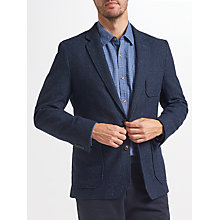 Buy John Lewis Bennett Wool Blend Fleck Blazer, Navy Online at johnlewis.com