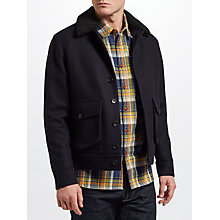 Buy JOHN LEWIS & Co. Wool Lumber Jacket, Navy Online at johnlewis.com