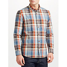 Buy JOHN LEWIS & Co. Textured Check Shirt, Red Online at johnlewis.com