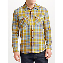Buy JOHN LEWIS & Co. Bright Twill Check Shirt, Mustard Online at johnlewis.com