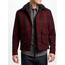Buy JOHN LEWIS & Co. Wool Check Lumber Jacket, Red Online at johnlewis.com