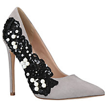 Buy KG by Kurt Geiger Bounty Embellished Stiletto Heeled Court Shoes Online at johnlewis.com