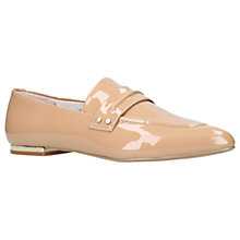 Buy KG by Kurt Geiger Kilma Loafers, Camel Leather Online at johnlewis.com