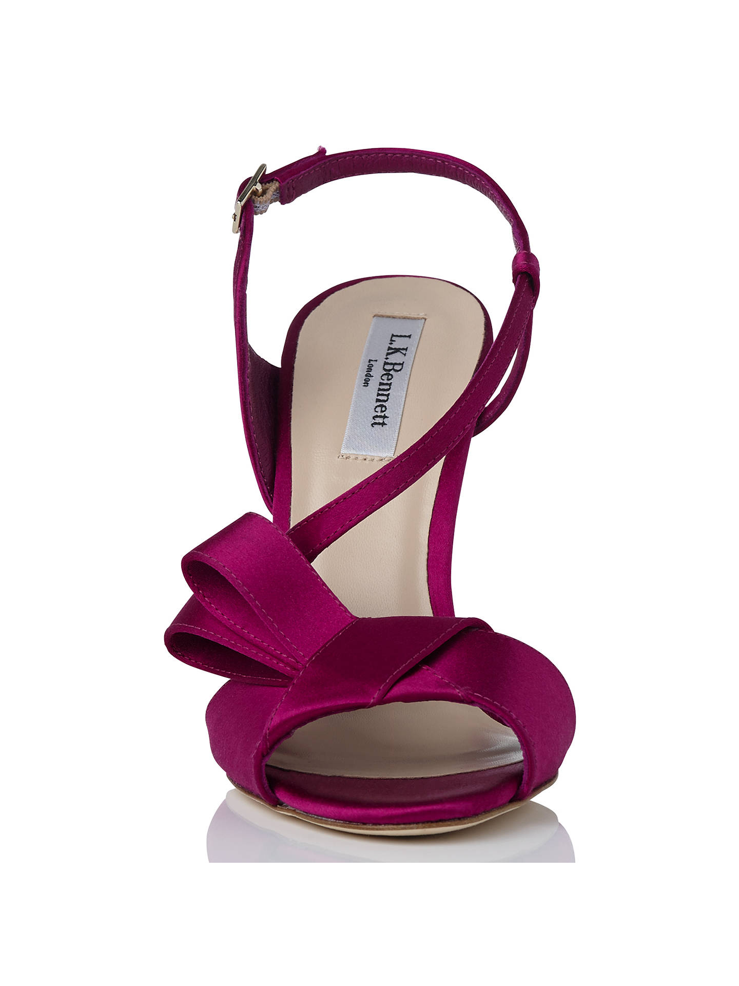 BuyL.K. Bennett Erica Formal High Heel Sandals, Fuchsia, 4 Online at johnlewis.com
