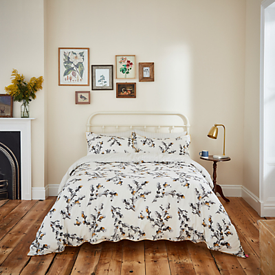 Joules Mono Blossom Print Cotton Bedding