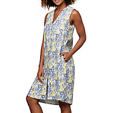 Buy East Linen Sardinia Dress, Lemon Online at johnlewis.com