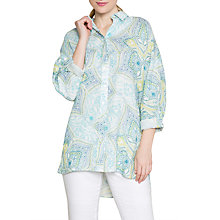 Buy East Linen Kashmir Oversized Shirt, Lime Online at johnlewis.com