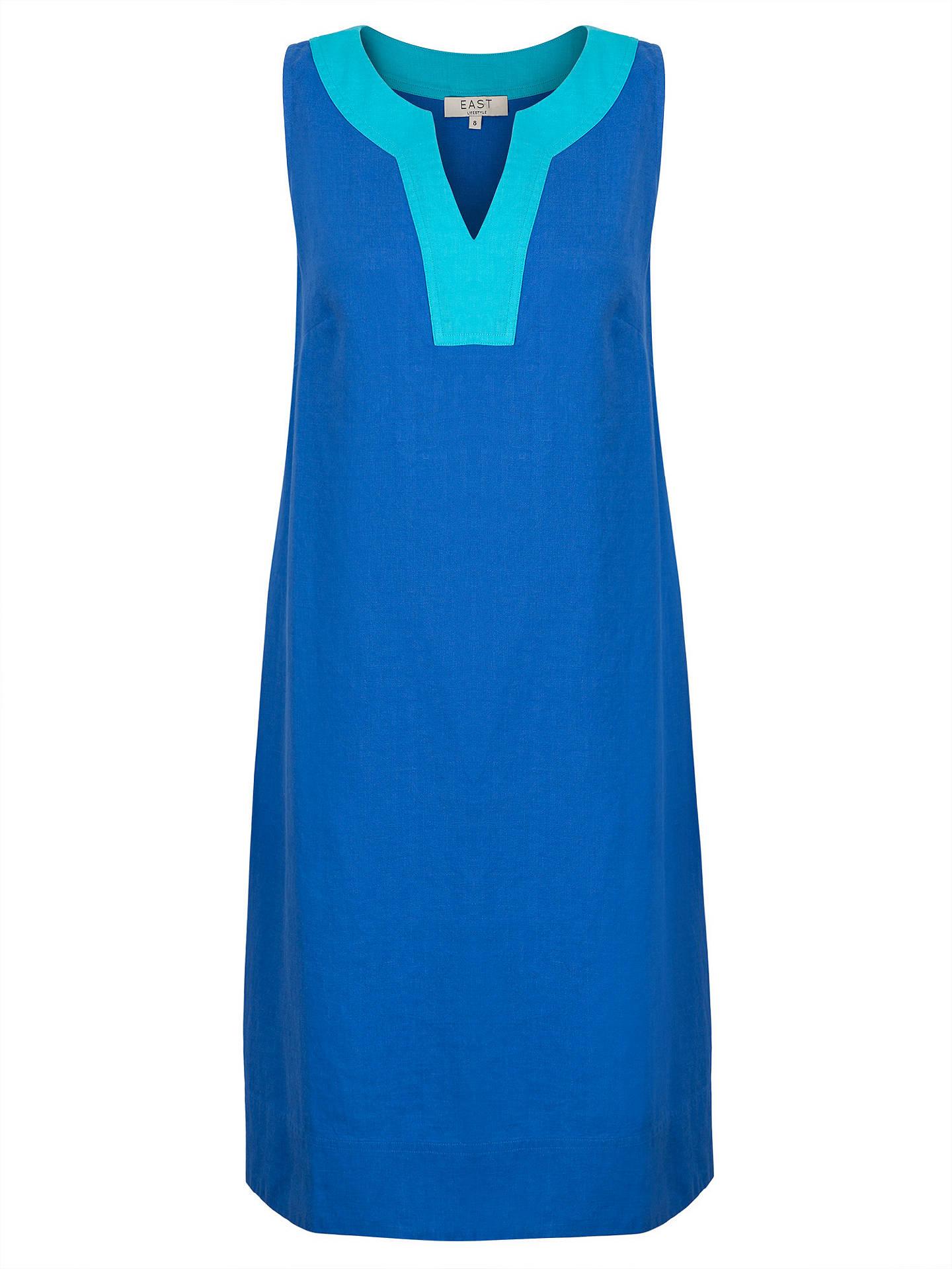 33ef8c8095 East Linen Notch Neck Dress at John Lewis   Partners