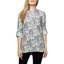 Buy East Linen Sardinia Print Shirt, Lemon Online at johnlewis.com