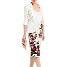 Buy Oasis Royal Worcester Collection Pencil Skirt, Neutral/Multi Online at johnlewis.com
