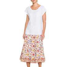 Buy East Anokhi Lalita Skirt, White Online at johnlewis.com