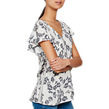 Buy Mint Velvet Cecilia Ruffle Sleeve Blouse, Multi Online at johnlewis.com