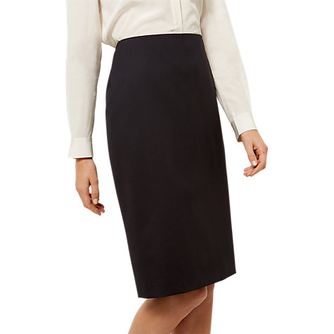Buy Jaeger Wool-Blend Pencil Skirt, Navy Online at johnlewis.com