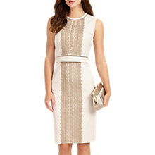 Buy Phase Eight Lucetta Lace Front Dress, Champagne/Latte Online at johnlewis.com