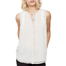 Buy Mint Velvet Tip Tie Neck Blouse, Ivory Online at johnlewis.com