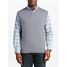 Buy Polo Ralph Lauren Merino Wool V-Neck Vest, Design Grey Online at johnlewis.com