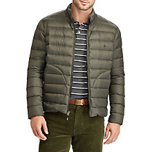Buy Polo Golf by Ralph Lauren Pack Down Fill Jacket, Forest Moss Online at johnlewis.com