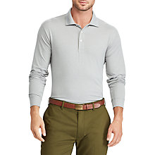 Buy Polo Golf by Ralph Lauren Long Sleeve Polo Top, Light Grey Heather Online at johnlewis.com