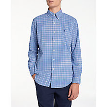 Buy Polo Golf by Ralph Lauren Pin Point Button Down Shirt, Blue Multi/Magenta Online at johnlewis.com