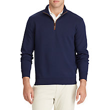 Buy Polo Golf by Ralph Lauren Long Sleeve Jersey Top, French Navy Online at johnlewis.com
