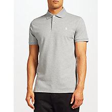Buy Polo Golf by Ralph Lauren Short Sleeve Polo Shirt, Light Grey Heather Online at johnlewis.com