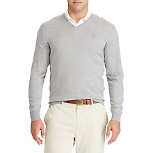 Buy Polo Ralph Lauren Long Sleeve V-Neck Wool Knitted Jumper Online at johnlewis.com