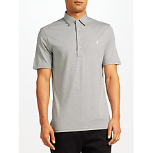 Buy Polo Ralph Lauren Short Sleeve Novelty Polo Shirt, Light Grey Heather Online at johnlewis.com