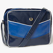 Buy Fred Perry Chevron Shoulder Bag, Navy/Regal Online at johnlewis.com