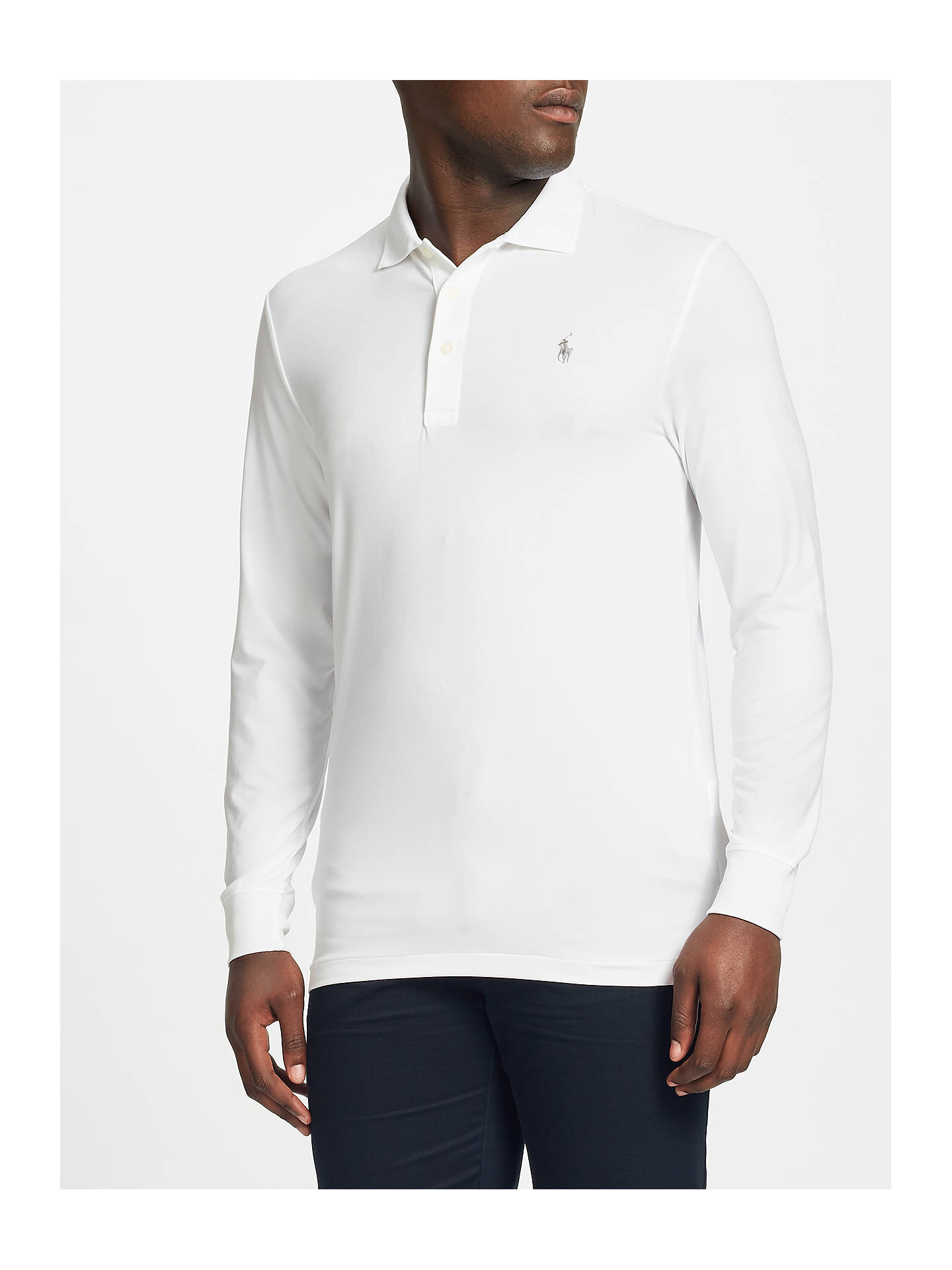 3f5112d1f67448 Buy Polo Golf by Ralph Lauren Lightweight Performance Polo Shirt, White, S  Online at ...
