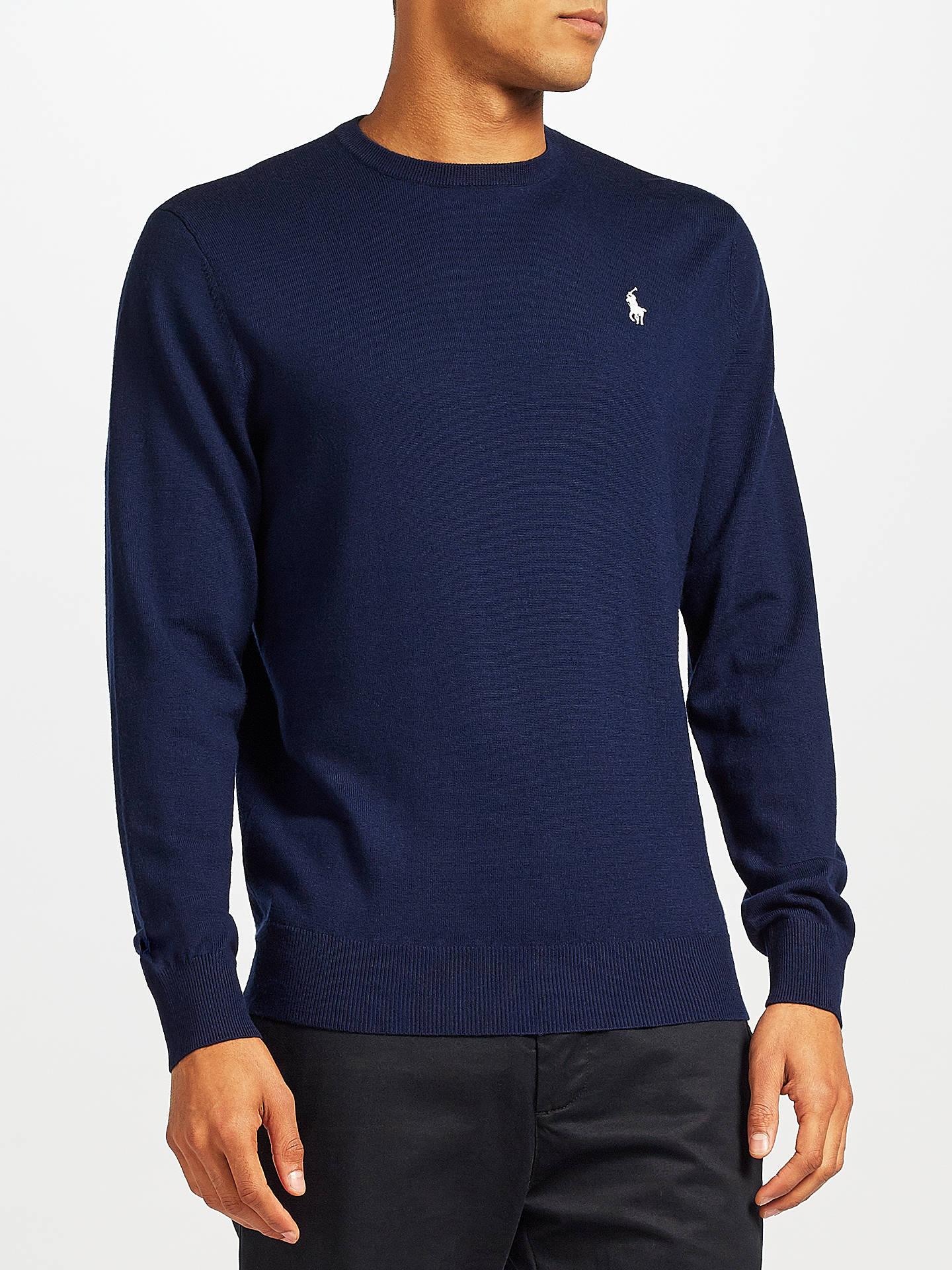 1d2f965ef631 Polo Ralph Lauren Long Sleeve Crew Merino Wool Knitted Jumper at ...