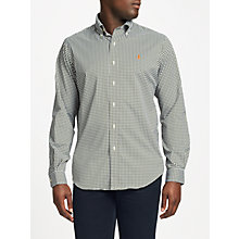 Buy Polo Golf by Ralph Lauren Button Down Pin Point Collar Shirt, Olive/Green Online at johnlewis.com