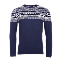 Buy Barbour Cove Crew Neck Jumper, Light Navy Online at johnlewis.com
